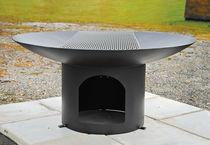 Barbacoa de leña / de carbón / de acero / profesional