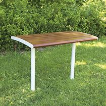 Mesa de diseño escandinavo / de madera / rectangular / para espacio público