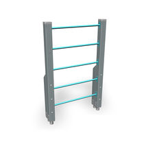Escalera elevada para exterior para recorrido deportivo / de madera / de acero