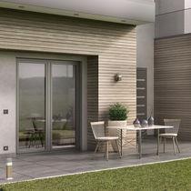 Perfil para puerta de aluminio / con aislamiento térmico