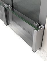 Barandilla de vidrio / con paneles / de exterior / para ventana