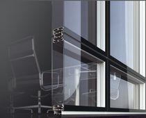 Tabique amovible / de aluminio / acristalado / de uso profesional