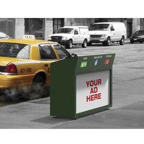Cubo de basura público / para suelo / de plástico / de metal