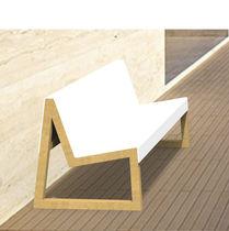 Banco público / moderno / de madera / de Corian®