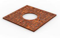 Cubrealcorques de acero COR-TEN® / cuadrado