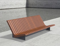 Banco para jardín / público / moderno / de madera