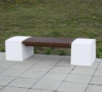 Banco público / moderno / de madera / de hormigón