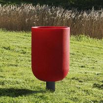 Cubo de basura público / empotrable / de acero / de plástico