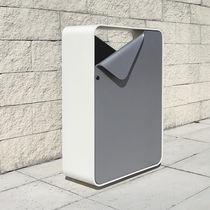 Cubo de basura público / de metal / de diseño original