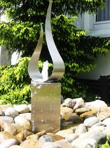 Fuente de jardín / de acero inoxidable