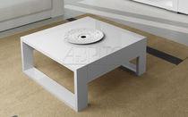Mesa de centro moderna / de madera lacada / rectangular / de interior