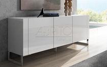 Aparador moderno / de madera lacada / blanco
