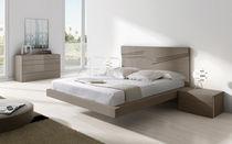 Cama doble / flotante / moderna / madera