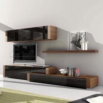 Mueble TV moderno / de madera / de vidrio