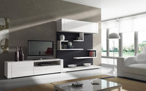 Mueble TV moderno / de madera / de madera lacada
