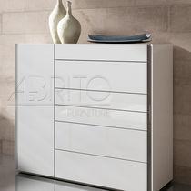 Cajonera moderna / de madera lacada / blanca