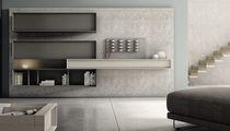 Mueble de salón moderno / de madera lacada