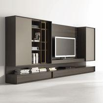 Mueble de salón moderno / de vidrio