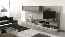 Mueble multimedia moderno / modulable / de madera lacada