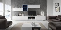 Mueble TV moderno / de madera / de madera lacada / con altavoces de alta fidelidad