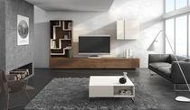 Mueble de televisión de estilo moderno / modulable / de madera