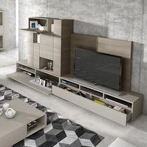 Mueble TV moderno / de madera / con altavoces de alta fidelidad