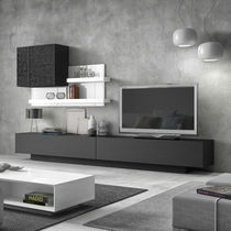 Mueble TV moderno / de madera lacada