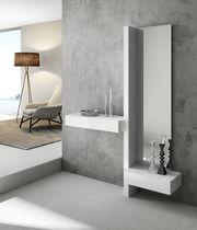 Mueble de entrada moderno / mural / con espejo