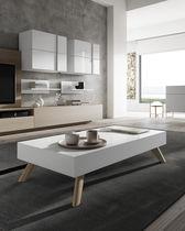 Mesa de centro / moderna / de madera / rectangular