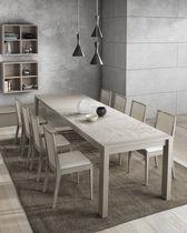 Mesa de comedor moderna / de madera / rectangular / extensible