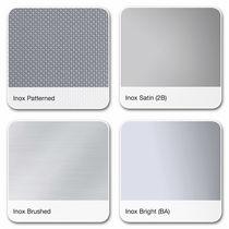 Revestimiento de fachada de material compuesto / de acero inoxidable / cepillado / brillante