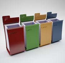 Cubo de basura público / de acero / de reciclaje / moderno