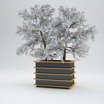 Jardinera de metal / cuadrada / rectangular / modular
