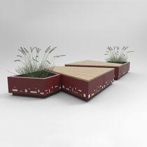 Banco público / de jardín / de diseño original / de madera