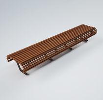 Banco público / moderno / de madera / de metal pintado