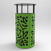 Cubo de basura público / de acero / moderno / de reciclaje