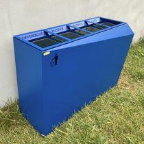 Cubo de basura público / de acero / de acero inoxidable / de reciclaje