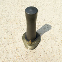 Bolardo antiestacionamiento / de hierro fundido / semiautomático / abatible