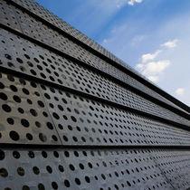 Lámina de metal perforada / decorativa / de zinc / para la construcción de puentes