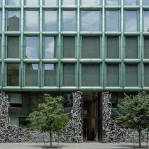 Revestimiento de fachada de cobre / de acero inoxidable / reflectante / pulido