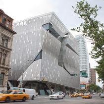 Revestimiento de fachada de acero inoxidable / texturado / perforado / de panel