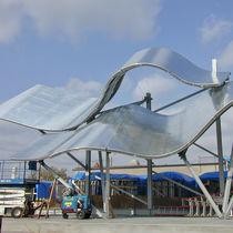Marquesina para edificio comercial / de aluminio / profesional / de arco