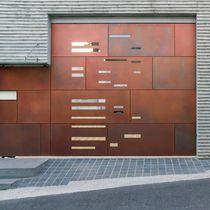 Revestimiento de fachada de cobre / patinado / de panel