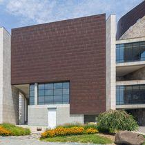 Revestimiento de fachada de piedra / de cobre / patinado / de panel