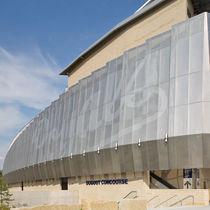 Celosía con lamas de acero inoxidable / para fachada / perforada