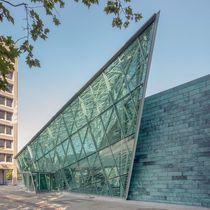 Muro cortina de vidrio estructural / de metal y vidrio