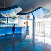 Falso techo decorativo / de aluminio / en isla
