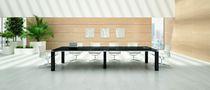 Mesita auxiliar moderna / de chapa de madera / rectangular / 100 % reciclable