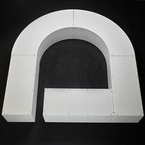Banco público / moderno / de plástico / modular
