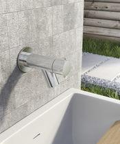 Grifo de fuente para beber / de pared / de metal cromado / de jardín